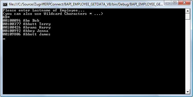 Call a BAPI- BAPI_EMPLOYEE_GETDATA   Theobald Software